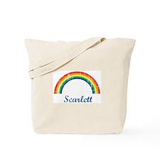 Scarlett vintage rainbow Tote Bag