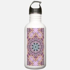pink bohemian floral m Water Bottle