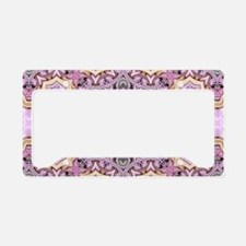 pink bohemian floral mandala License Plate Holder