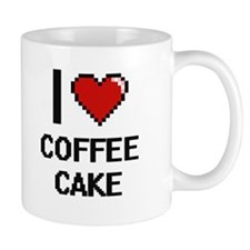 I love Coffee Cake digital design Mugs