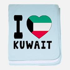 I Love Kuwait baby blanket