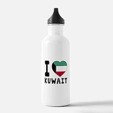 I Love Kuwait Water Bottle