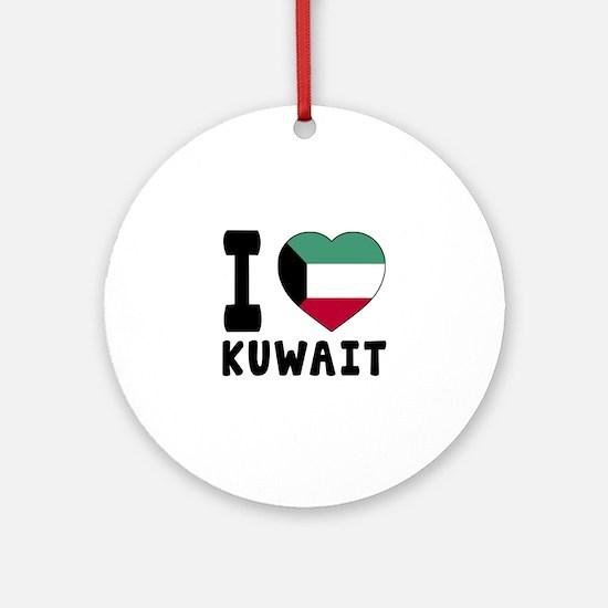 I Love Kuwait Round Ornament
