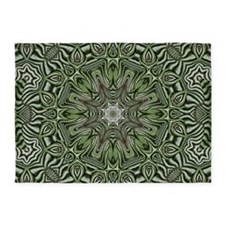 Preppy leaves pattern hipster 5'x7'Area Rug