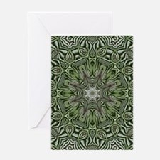 Hemp leaves pattern hipster Greeting Cards