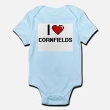 I love Cornfields digital design Body Suit