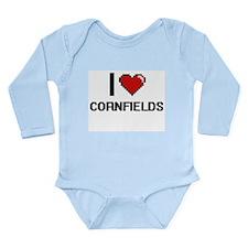 I love Cornfields digital design Body Suit