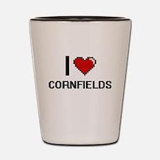 I love Cornfields digital design Shot Glass