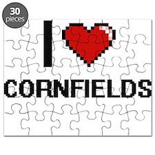 I love Cornfields digital design Puzzle