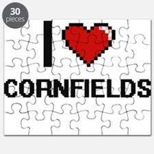 I love Cornfields digital design Puzzle