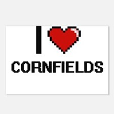 I love Cornfields digital Postcards (Package of 8)