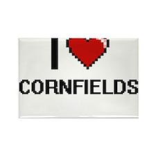 I love Cornfields digital design Magnets