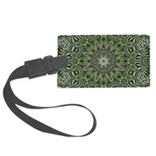 Hemp leaves pattern hipster Luggage Tag