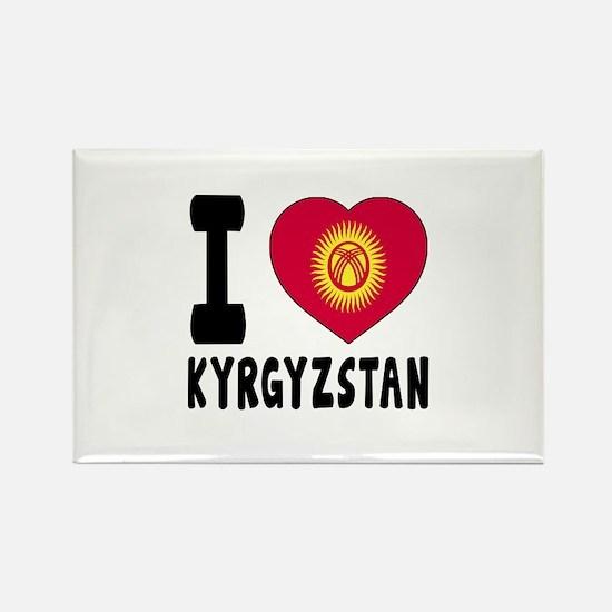 I Love Kyrgyzstan Rectangle Magnet