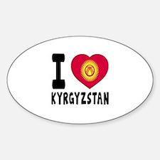 I Love Kyrgyzstan Sticker (Oval)