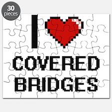 I love Covered Bridges digital design Puzzle