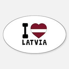 I Love Latvia Decal