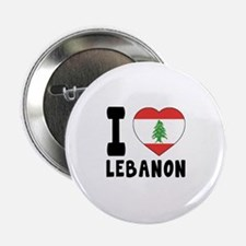 "I Love Lebanon 2.25"" Button (10 pack)"