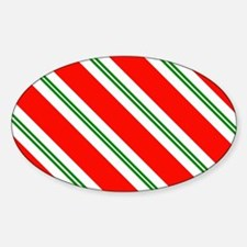Candy Cane Red & Green Stripes Patt Decal