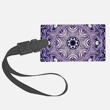 romantic bohemian purple mandala Luggage Tag