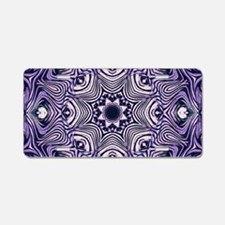 romantic bohemian purple ma Aluminum License Plate