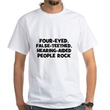 Four-Eyed, False-Teethed, Hea Shirt
