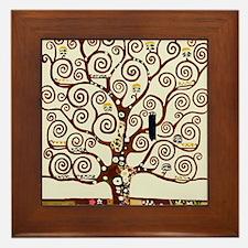 Klimt tree of life Framed Tile