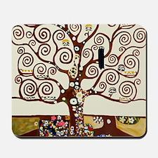 Klimt tree of life Mousepad