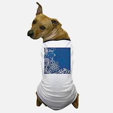 beach blue white lace Dog T-Shirt