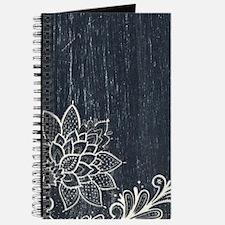 white lace black chalkboard Journal