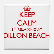 Keep calm by relaxing at Dillon Beach Tile Coaster