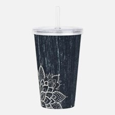 white lace black chalk Acrylic Double-wall Tumbler