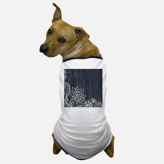 white lace black chalkboard Dog T-Shirt