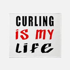Curling Is My Life Throw Blanket
