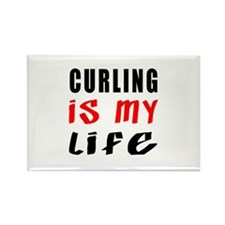 Curling Is My Life Rectangle Magnet