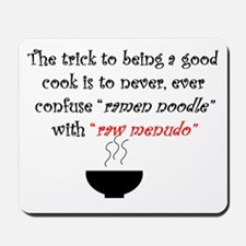 Menudo Secret 1 (White) Mousepad