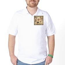 vintage nautical seashells sailor T-Shirt