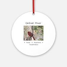 Cardinal Animal Medicine Gifts Round Ornament