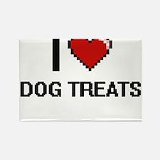 I love Dog Treats digital design Magnets