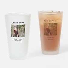 Red Cardinal Totem Drinking Glass
