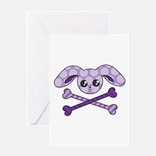 Bunny Crossbones Greeting Card