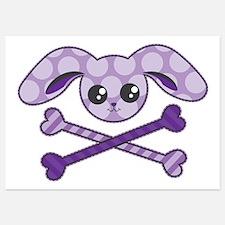 Bunny Crossbones Invitations