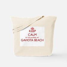 Keep calm by relaxing at Gaviota Beach Ca Tote Bag