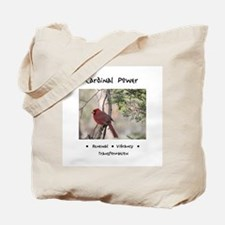 Red Cardinal Totem Tote Bag