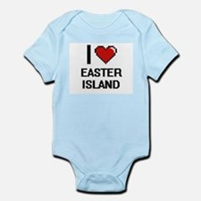 I love Easter Island digital design Body Suit