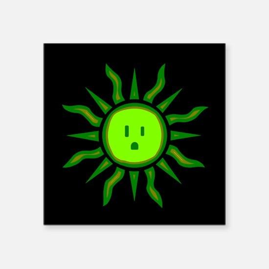 Green Electric Sun Sticker