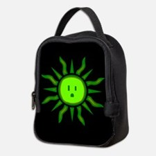 Green Electric Sun Neoprene Lunch Bag