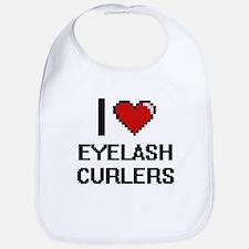I love Eyelash Curlers digital design Bib