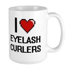 I love Eyelash Curlers digital design Mugs