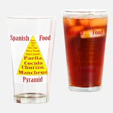 Spanish Food Pyramid Drinking Glass